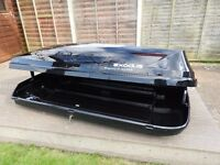 Car Roof Box, extra-large 580 litres black, side opening