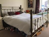 Bronze metal king size bed frame