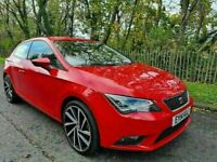 MARCH 2014 SEAT LEON 1.6 TDI CR SE (TECHNOLOGY PACK) SPORT COUPE (STOP/START) 3DOOR FREE ROAD-TAX !