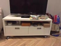 IKEA TV Unit with Shelf and Two Storage Drawers to sell