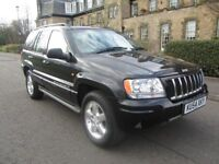 2004 Jeep Grand Cherokee 4.7 V8 (high output) Overland Automatic - 4WD - FSH - Black