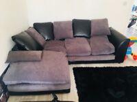 Grey corner sofa - £30
