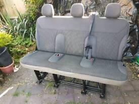 Triple rear folding seats for vauxhall vivaro or other vans