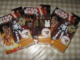 "Star Wars Force Awakens Figures 3.75"" BRAND NEW x 3"