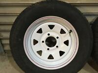 Wheels and tyres trailer car ect
