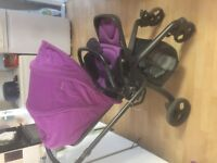 Mamas and papas mylo 2 pushchair and carry cot vgc