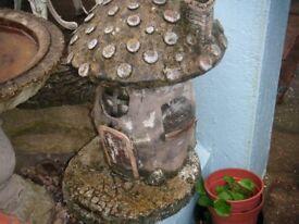 concrete ornament toadstool