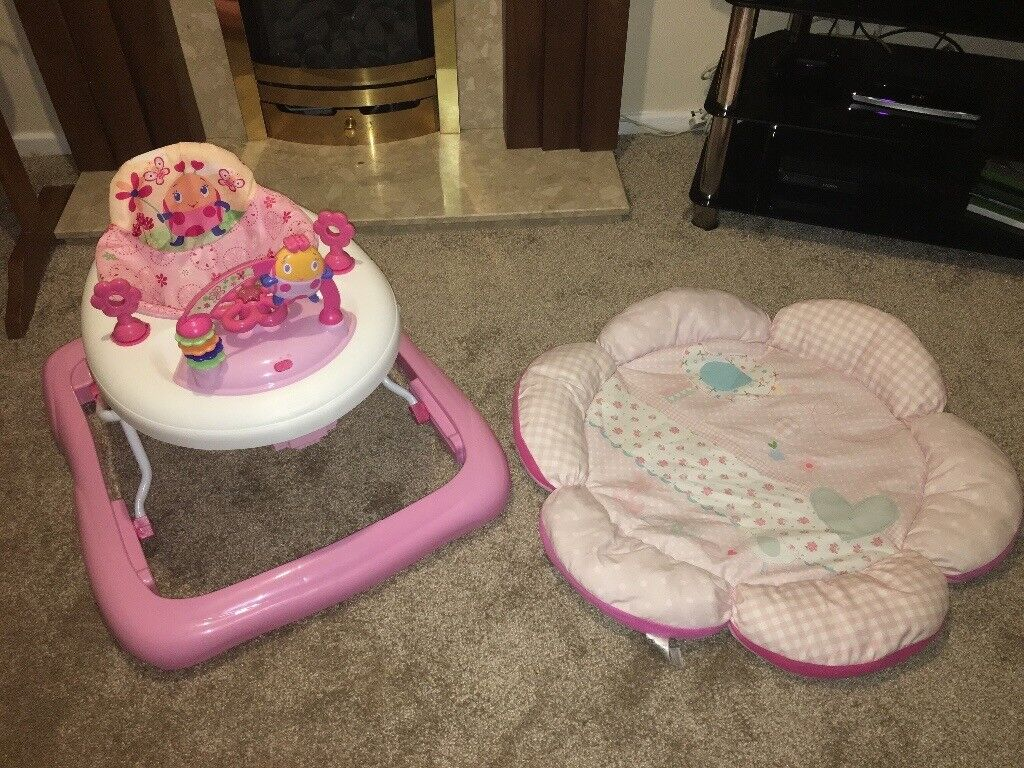 Pink Baby Walker and Play Mat