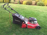 Mountfield petrol self repelled lawnmower, Runs well but needs a clutch and some tenderness.