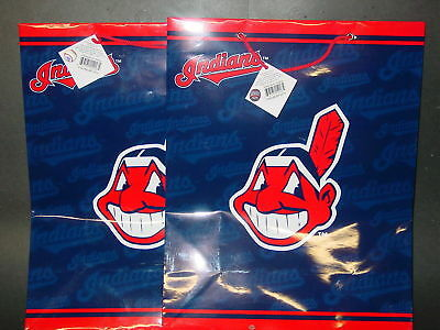 MLB Cleveland Indians Gift Bags (2 bags) LARGE