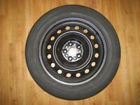 Steel wheel fitted with decent 195/60R16 tyre for Toyota Urban Cruiser - full sized spare