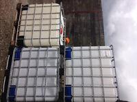 1000 Litre IBC Bulk Liquid Storage Containers, Good Condition