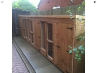 Treble dog kennel and run