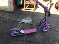 Pink and purple scooter suitable for ages 5-8