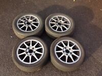 4x OEM Honda Integra Type R DC2 Alloy Wheels Enkei 5x114.3 ET55 64.1 Centre bore EK9 Civic