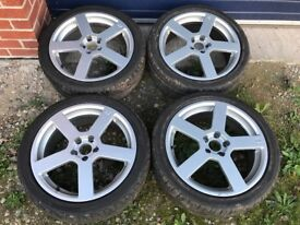 """Volvo Pegasus style 18""""alloy wheels with tyres. 850,850r,v70,v70rs60,s60r"""