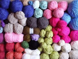 Large mixed bag of knitting wool & yarn - approx 4kg in total (D)