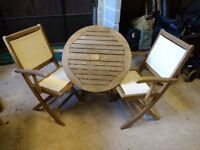 Steamer Chairs & Table