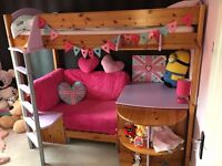 Sold - Stompa Casa Highsleeper single bed with pullout sofa bed. Good condition