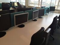 12x Office Desks, Chairs and Pedistools For Sale