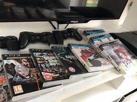 Sony PS3 Playstation 250GB. 3controllers, Fifa16, GTA, CallOfDuty, Need4Speed, Minecraft..