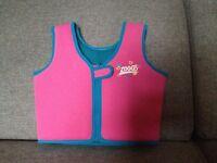 Zoogs Girls Float Vest - 4 - 5 Years