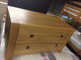 Oak storage boxes