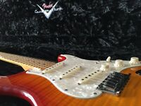 Limited Russian Fender Custom Shop Deluxe Stratocaster Aged Cherry Sunburst