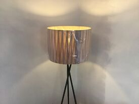 John Lewis drum pleat shade for in taupe