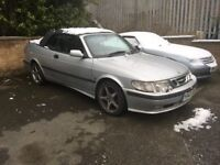 2001 SAAB 93 SE CONVERTIBLE. CHIPPED DUMP VALVE ENGINE VIGGEN WHEELS