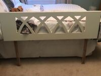 Double bed white country/shabby chic headboard