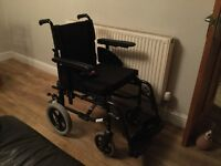Invacare wheelchair immaculate condition, used once outside