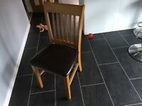 Extendable table and four chairs very good quality space saving