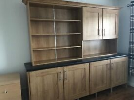 Oak office or study furniture - excellent condition