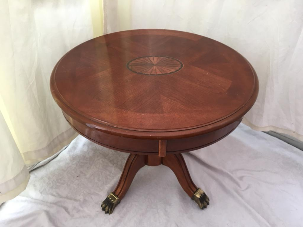 Circular Coffee Table Antique Style Br Lion Paw Feet Delivery Available