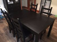 Dinning table and 4 chairs from Ikea