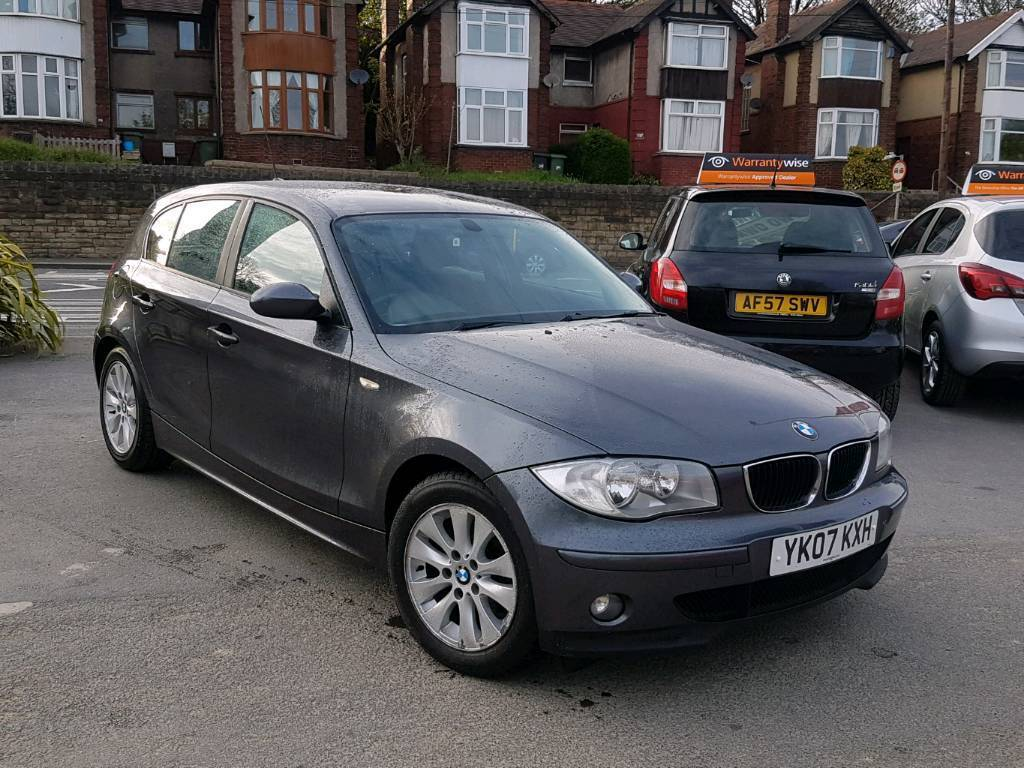 2007 bmw 1 series 118d se manual 5 door grey f s h 2 owners 12 months mot hpi clear in. Black Bedroom Furniture Sets. Home Design Ideas