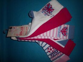 New 5 Pairs of Girls England Football Socks Size 4-7 / 11 Years+ IP1