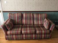 3 seater, 2 seater and chair sofa suite