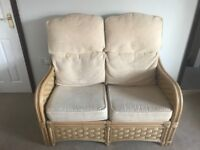 2 seater - 3 piece Cream Conservatory Furniture