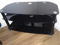 Stylish glass TV corner/side unit.