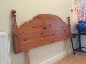 M&S Golden Pine Double Headboard
