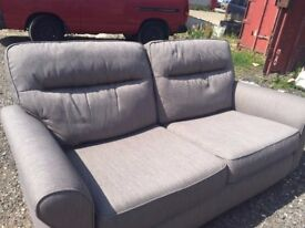 ALMOST BRAND NEW, HARVEY TWO SEATER FABRIC SOFA