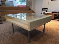 IKEA BEACH AND GLASS COFFEE TABLE
