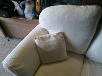 Cream sofa x 2.