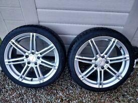 Mercedes Alloy Wheels Winter Tyres 18'