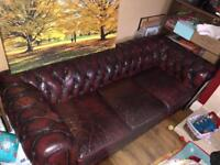 Chesterfield 3 seater Sofa and Armchair.