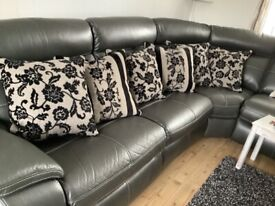 Large cushions - black and dark grey