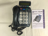 Geemarc CL400 Keypad Telephone | Voice Message Answerphone | Amplified function Hard of Hearing