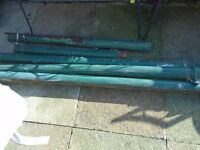 4 lengths of victorian cast iron drain pipe